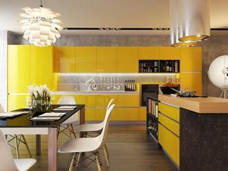 Decoração-de-cozinha-na-cor-amarela