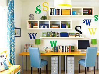 Decoração-do-home-office-colorido