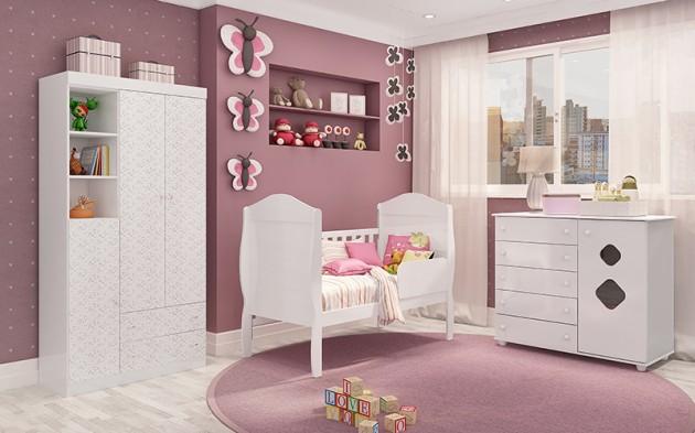 Decoração-do-quarto-do-bebe-feminino