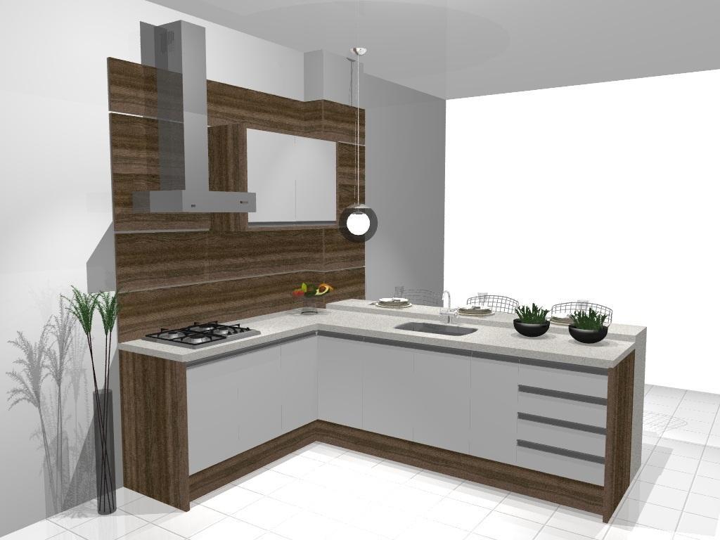 Móveis planejados para cozinha americana Decorando Casas #483C2D 1024 768