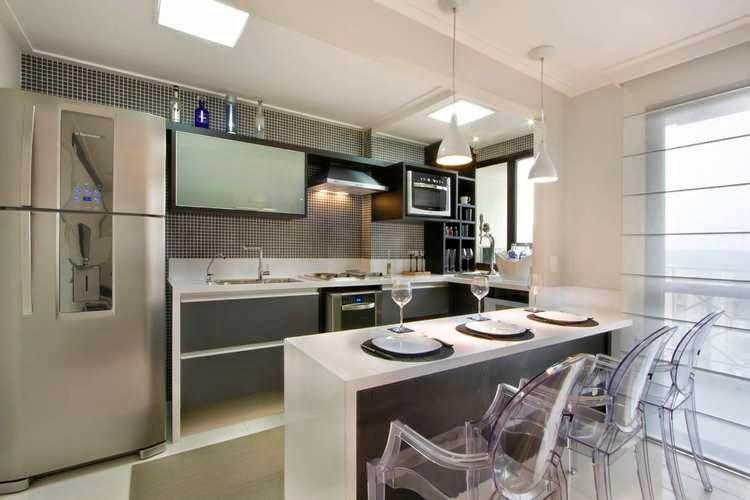 M veis planejados para cozinha pequena decorando casas - Armarios para casas pequenas ...