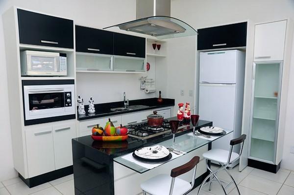 Adesivo Flor De Lis ~ Móveis planejados para cozinha pequena de apartamento Decorando Casas