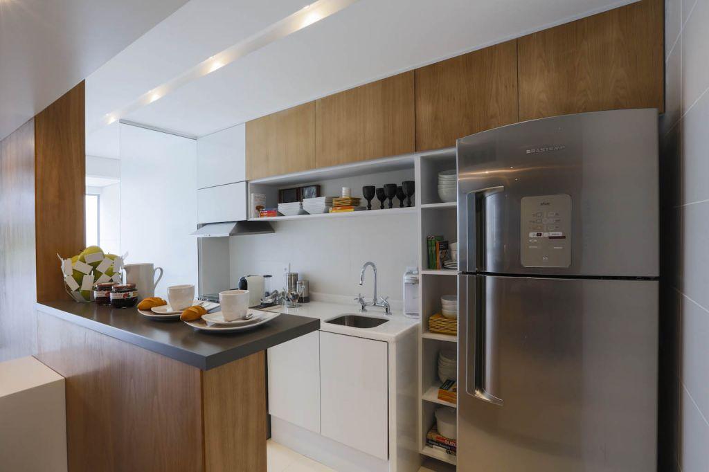 Móveis planejados para cozinha pequena de apartamento | Decorando