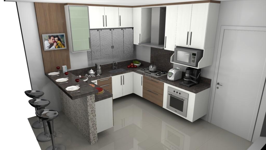 Móveis planejados para cozinha pequena Decorando Casas