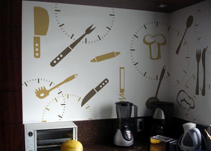 Artesanato Para Cozinha De Tecido ~ Papel de parede cozinha gourmet Decorando Casas