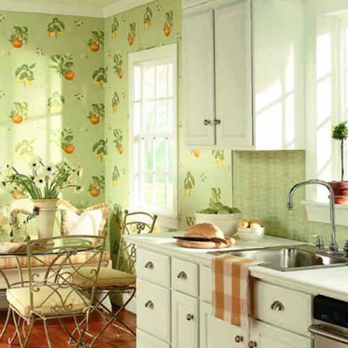 Kitchen Wallpaper Decor: Papel De Parede Cozinha Gourmet