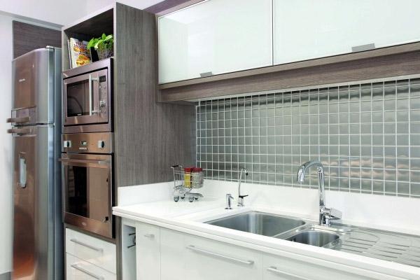 Como decorar cozinha de apartamento com pastilhas  Decorando Casas # Cozinha Decorada Com Pastilha De Vidro