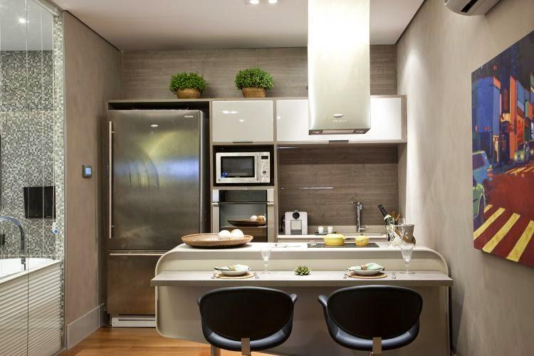 Decoração Cozinha Pequena E Moderna 08 Decorando Casas
