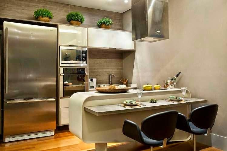 Decoracao De Cozinha Pequena E Moderna Beyatocom Vários
