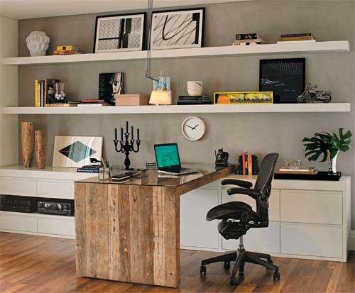 Decora o do escrit rio pequeno simples e aconchegante for Escritorios para espacios pequenos