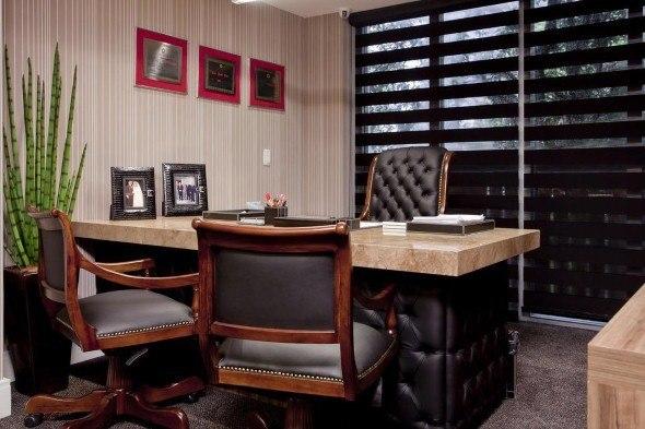 Decoraç u00e3o do escritório pequeno, simples e aconchegante Decorando Casas