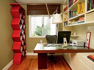 Decoração-do-escritório-pequeno-simples-e-aconchegante