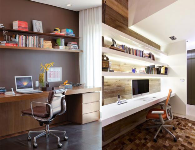 Decoracao Sala Homem ~ Decoração do home office na sala  Decorando Casas
