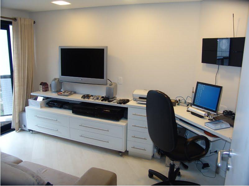 Sala Estar Con Home Office ~ Decoração do home office para apartamento  Decorando Casas