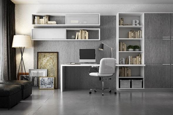 Decoração home office no quarto  Decorando Casas