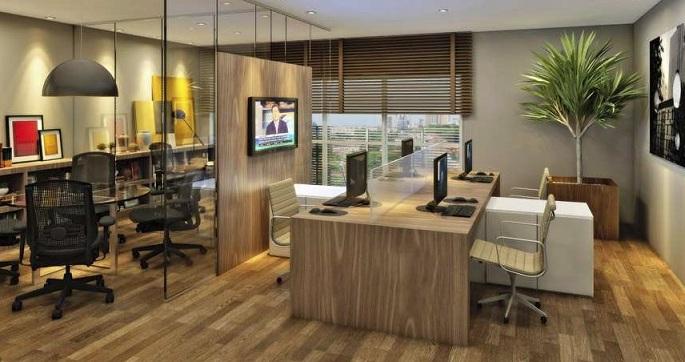 Decoraç u00e3o para escritório comercial Decorando Casas -> Decoração De Escritório Residencial