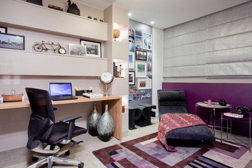 Decoração para home office do quarto masculino Decorando