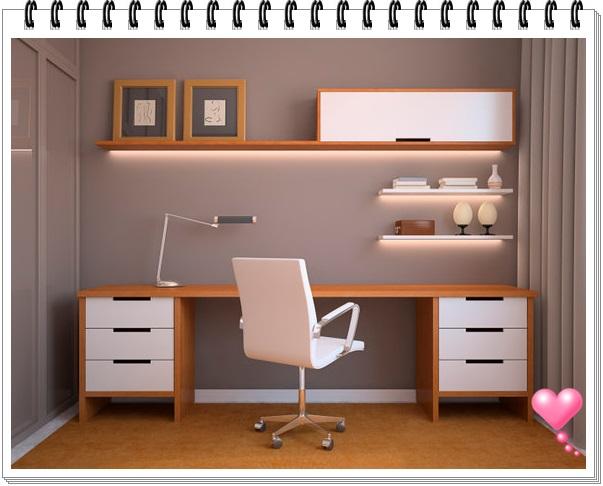 Decoraç u00e3o para home office feminino Decorando Casas
