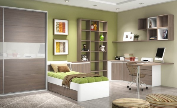 Home office no quarto moderno Decorando Casas ~ Quarto Planejado Com Home Office