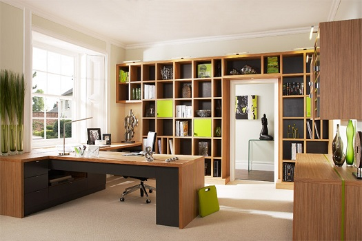 Home office no quarto planejado Decorando Casas