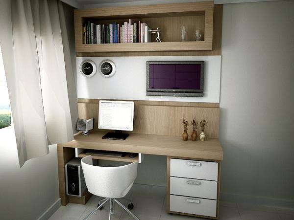 Home office para quarto de solteiro pequeno Decorando Casas ~ Quarto Planejado Pequeno Solteiro