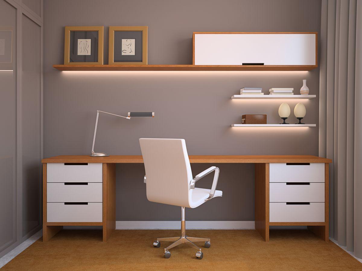 Home Office Para Quarto De Solteiro Pequeno Decorando Casas ~ Home Office No Quarto De Solteiro