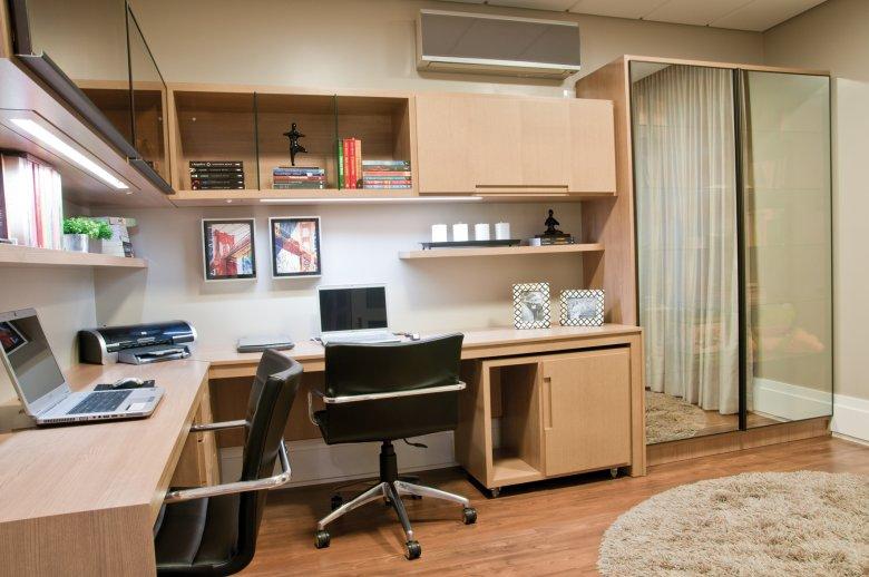 Home office para quarto de solteiro pequeno Decorando Casas ~ Quarto Solteiro Escritorio