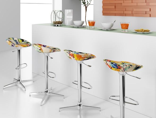 Modelos de banquetas para cozinhas decorando casas for Banquetas altas modernas
