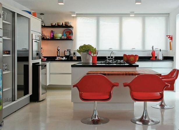 cozinhas-com-banquetas-vermelhas