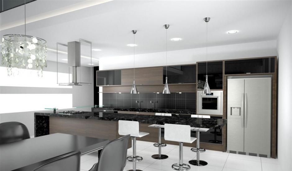 Dicas de iluminação para cozinhas  Decorando Casas # Dicas De Decoracao Para Cozinha Grande
