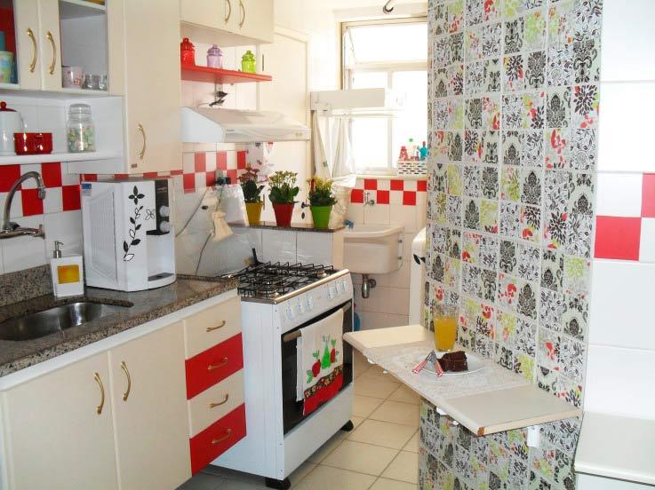 Papel de parede para cozinha – Dicas e modelos  Decorando Casas # Azulejo Cozinha Com Papel Contact