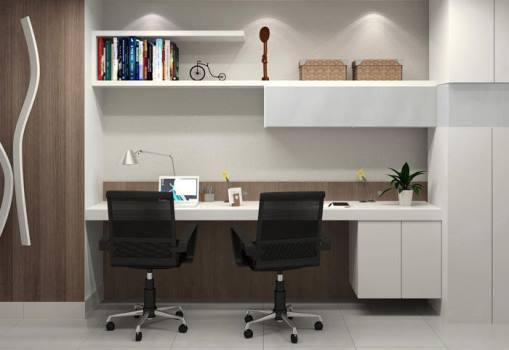 Decoraç u00e3o do escritório em casa Decorando Casas -> Decoração De Escritório Residencial