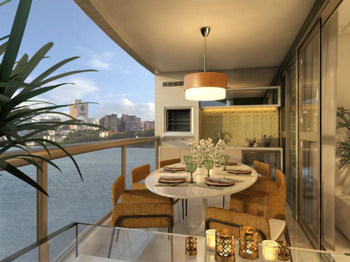 Decoraç u00e3o para varanda gourmet de apartamentos Decorando Casas -> Decoração Para Varanda De Apartamento Simples