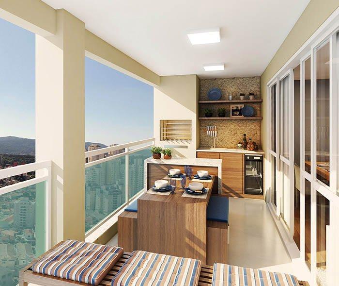 Decora o para varanda gourmet de apartamentos decorando casas - Armario balcon ...