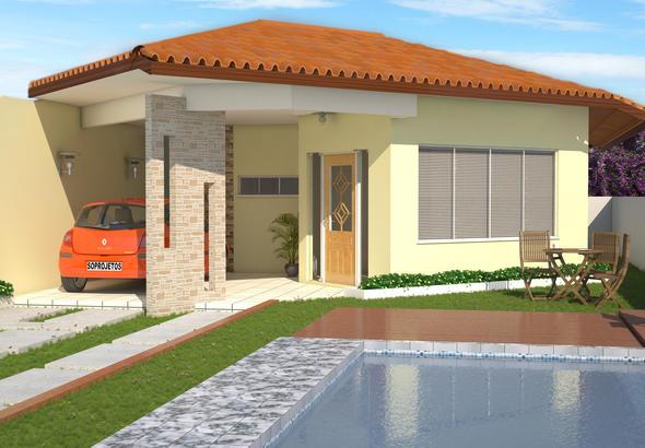 Projetos de casas t rreas modernas decorando casas - Casas para construir modelos ...