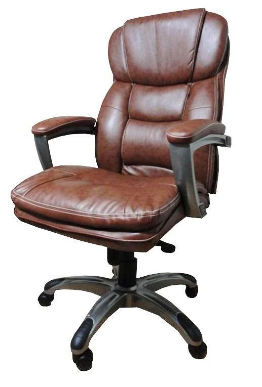 Poltronas-para-escritório-marrom–Giratória-Relax