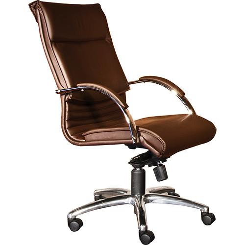 Poltronas-para-escritório-marrom–Reclinável