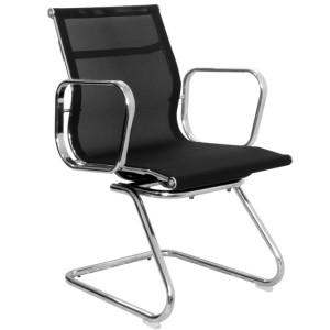 Cadeira-fixa-para-escritório-Preta
