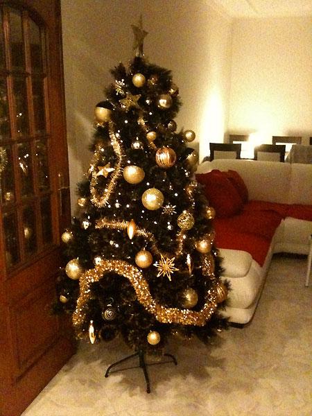 Decoraç u00e3o de natal simples e barata Decorando Casas -> Como Decorar Uma Arvore De Natal Simples E Bonita