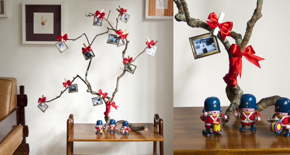 decoracao de arvore de natal simples e barata:Decoração de natal simples e barata