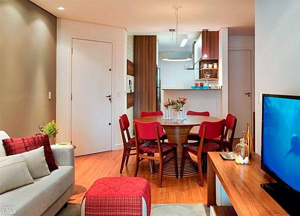 Decora o para sala de estar e jantar integradas for Mesa de cafe pequena sala de estar