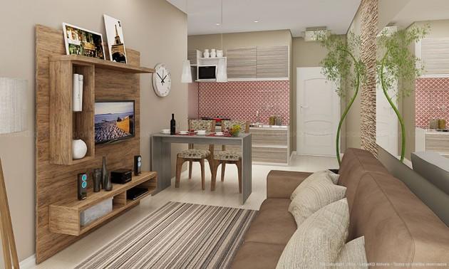 Decoraç u00e3o para sala de estar e jantar integradas Decorando Casas # Decoração De Sala De Jantar E Estar No Mesmo Ambiente