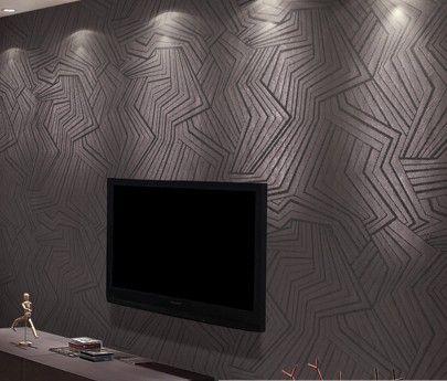 Texturas para paredes de sala moderna decorando casas for Living room wallpaper texture