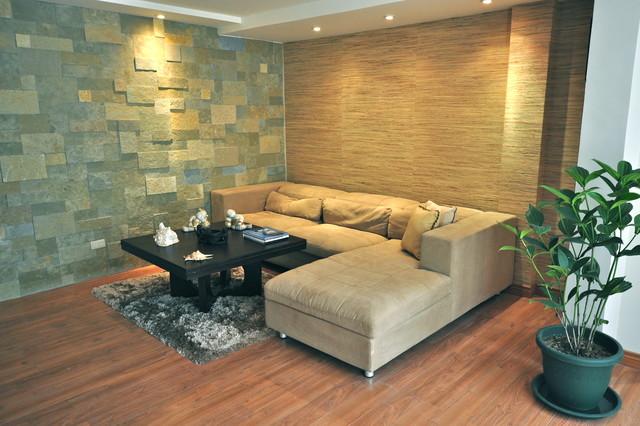 Texturas para paredes de sala moderna