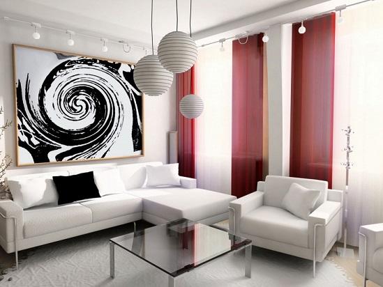 decoração-sala-pequena-e-moderna