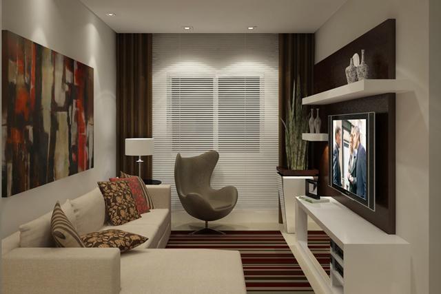 Kinect Em Sala Pequena ~ Como decorar a sala pequena e moderna?  Decorando Casas