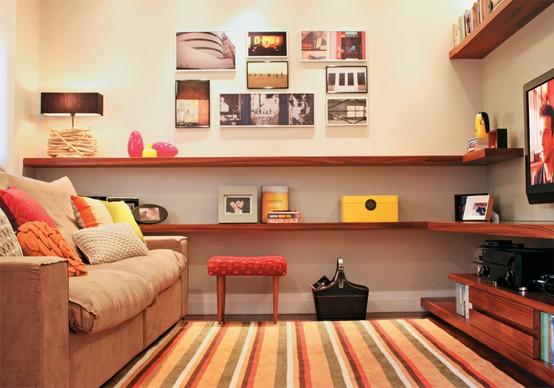 Como decorar a sala pequena e moderna