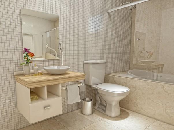Decoração para banheiro pequeno e simples  Decorando Casas -> Banheiro Simples De Sitio
