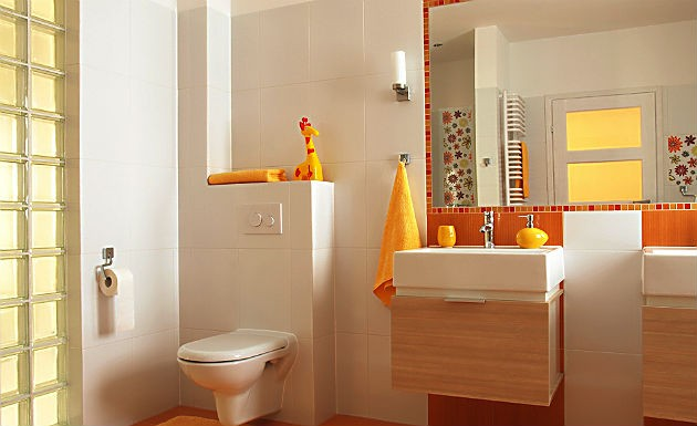 Decoração para banheiro pequeno e simples  Decorando Casas -> Banheiro Pequeno Simples Branco