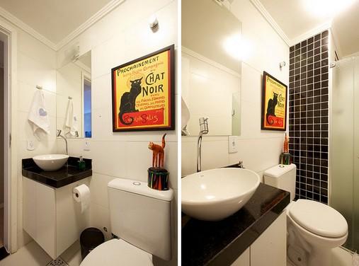 Decoração para banheiro pequeno e simples  Decorando Casas -> Banheiro Pequeno Sofisticado